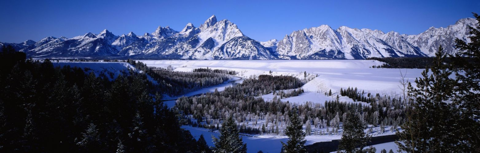 mountains landscape nature mountain winter river wallpaper
