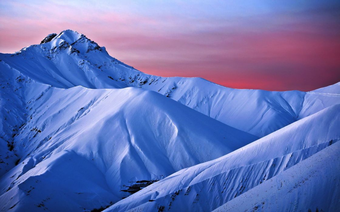 mountains landscape nature mountain winter snow wallpaper