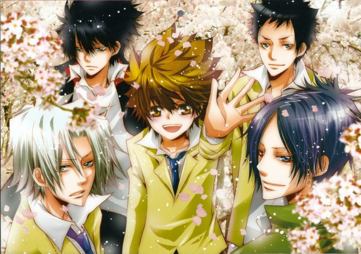 katekyou hitman reborn character hibari kyouya sawada tsunayoshi rokudo mukuro gokudera hayato yamamoto takeshi wallpaper