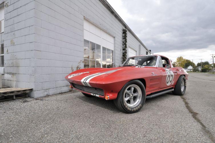 1963 Corvette Z06 Race Car Red Classic Old USA 4288x2848-03 wallpaper