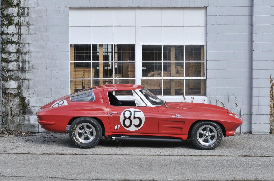 1963 Corvette Z06 Race Car Red Classic Old USA 4288x2848-13 wallpaper