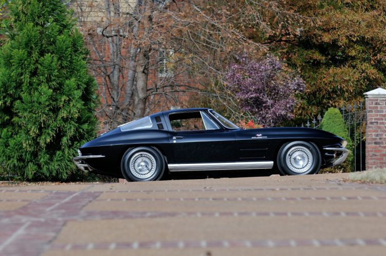 1964 Chevrolet Corvette StingRay Black Classic Old USA 4288x2848-03 wallpaper