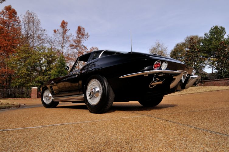 1964 Chevrolet Corvette StingRay Black Classic Old USA 4288x2848-05 wallpaper