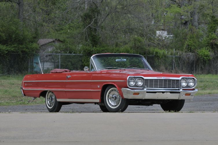 1964 Chevrolet Impala SS Convertible Red Classic)Old USA 4288x2848-01 wallpaper