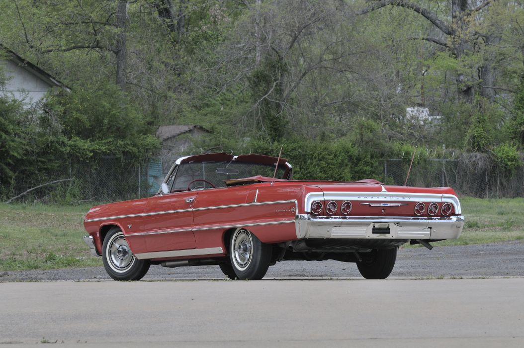 1964 Chevrolet Impala SS Convertible Red Classic)Old USA 4288x2848-03 wallpaper