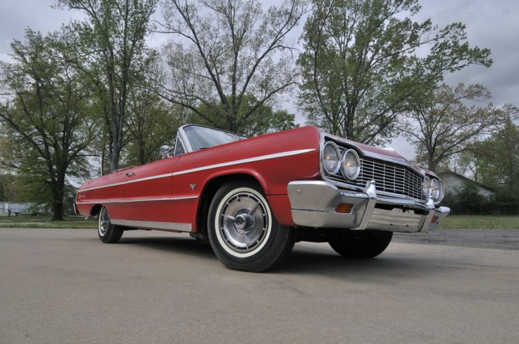 1964 Chevrolet Impala SS Convertible Red Classic)Old USA 4288x2848-02 wallpaper