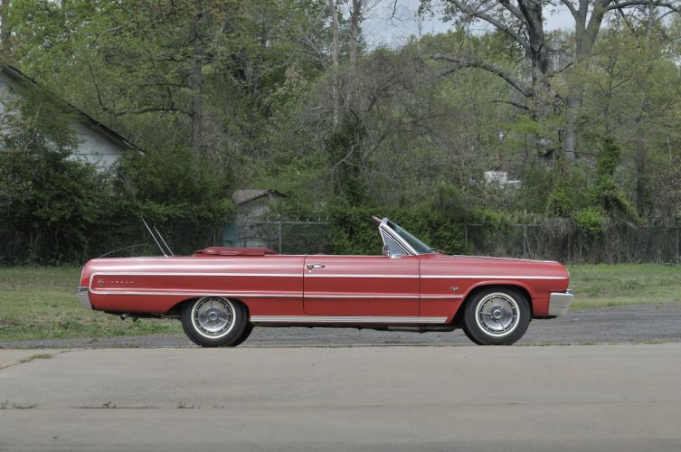 1964 Chevrolet Impala SS Convertible Red Classic)Old USA 4288x2848-04 wallpaper