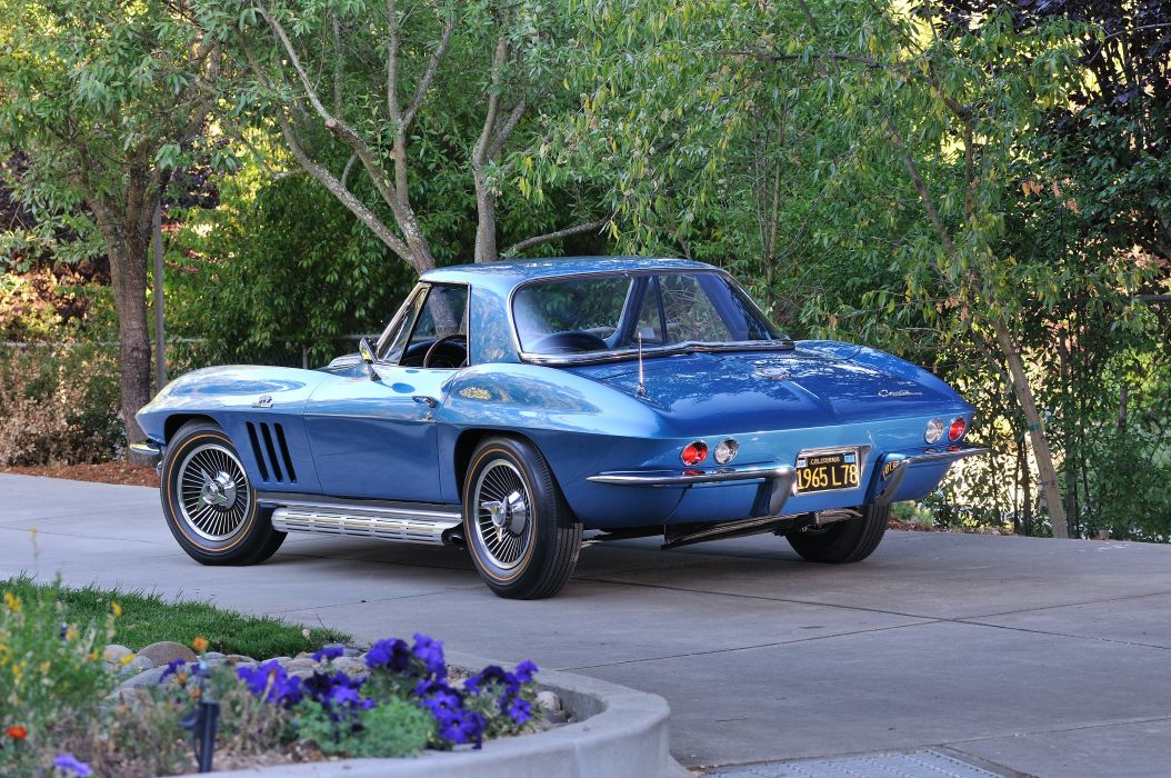 1965 Chevrolet Corvette Stingray Convertible 396 Turbo Jet Classic Old USA 4288x2848-03 wallpaper