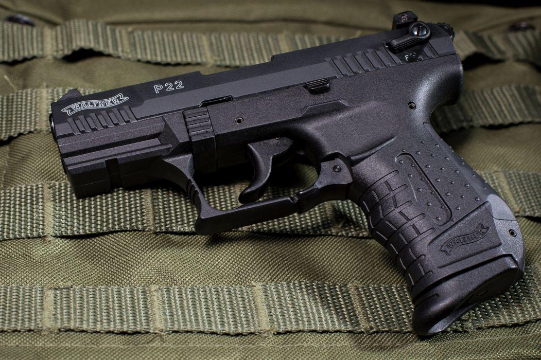 walther p22 Gun weapon ammunition bullets sniper pistol black police wallpaper