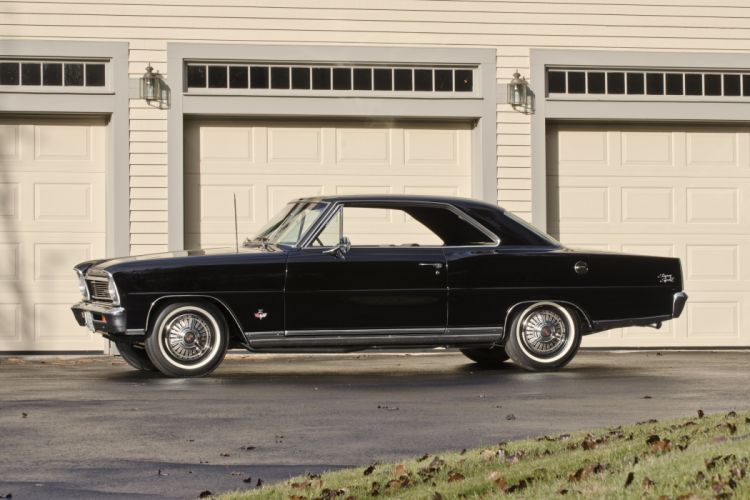 1966 Chevrolet Nova SS Muscle Classic Black USA 4500x3000-02 wallpaper