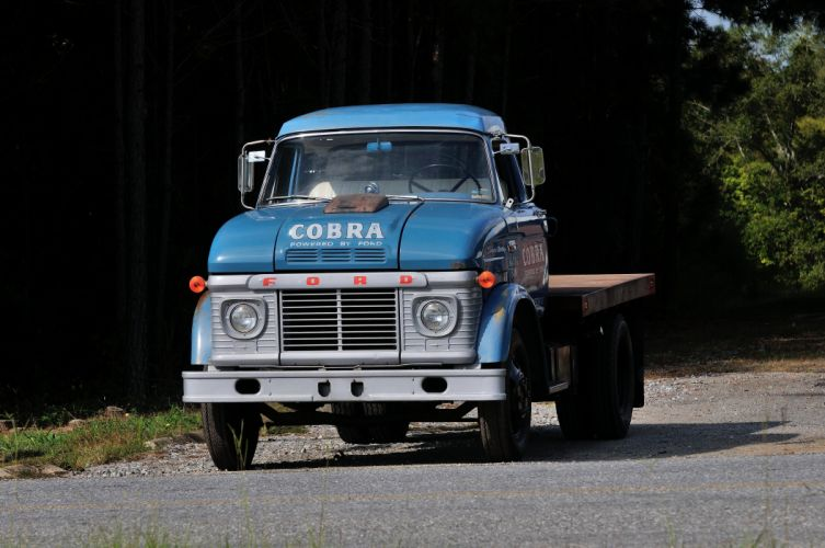 1966 Ford Truck CS500 Shelby Racing Transporter Blue Classic Old USA 4288x2848-03 wallpaper