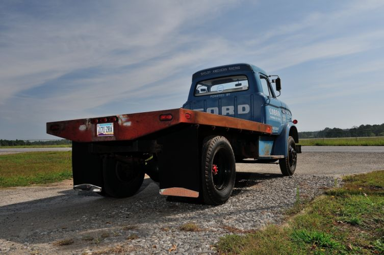 1966 Ford Truck CS500 Shelby Racing Transporter Blue Classic Old USA 4288x2848-02 wallpaper