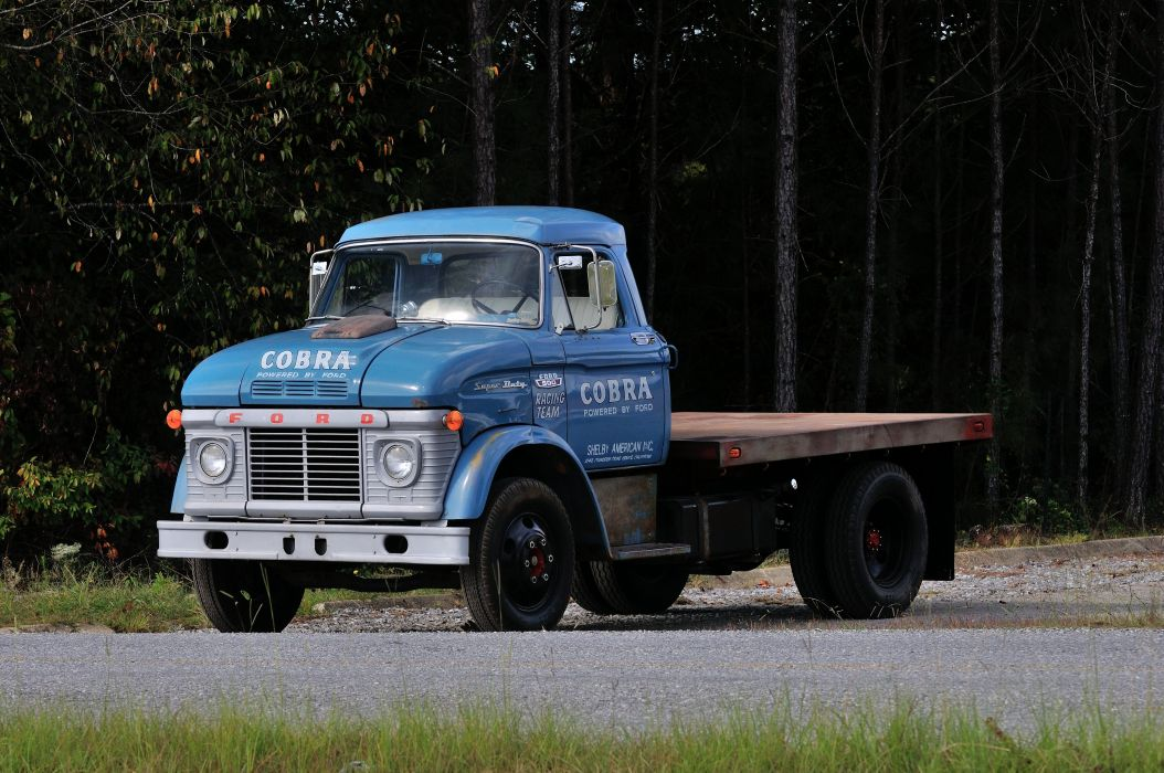 1966 Ford Truck CS500 Shelby Racing Transporter Blue Classic Old USA 4288x2848-04 wallpaper