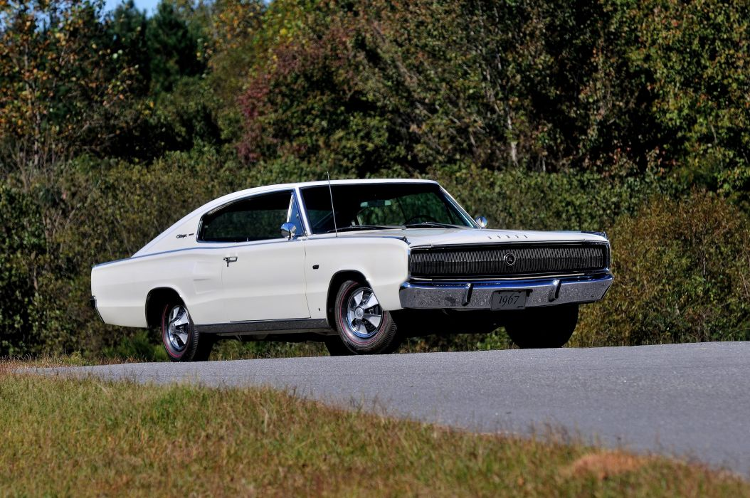 1967 Dodge Hemi Charger Muscle Classic White USA 4200x2790-04 wallpaper