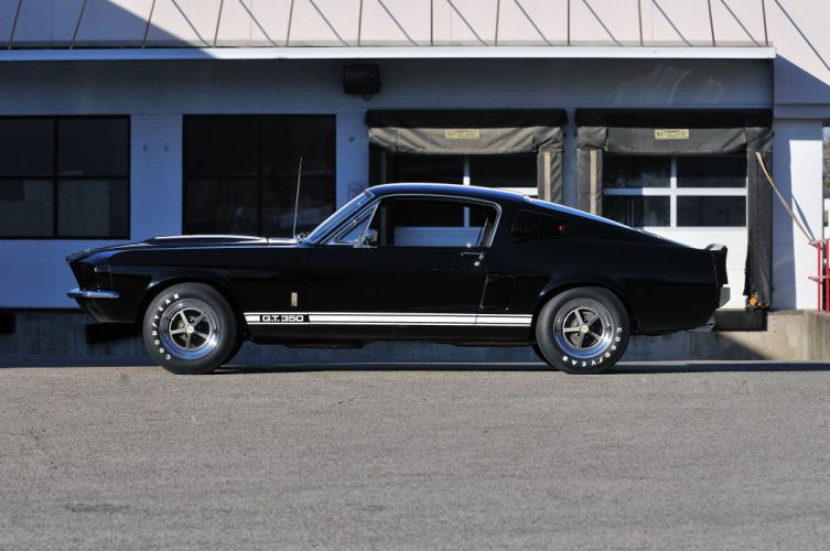 1967 Ford Mustang Shelby GT350 Black Muscle Classic Old USA 4288x2848-02 wallpaper