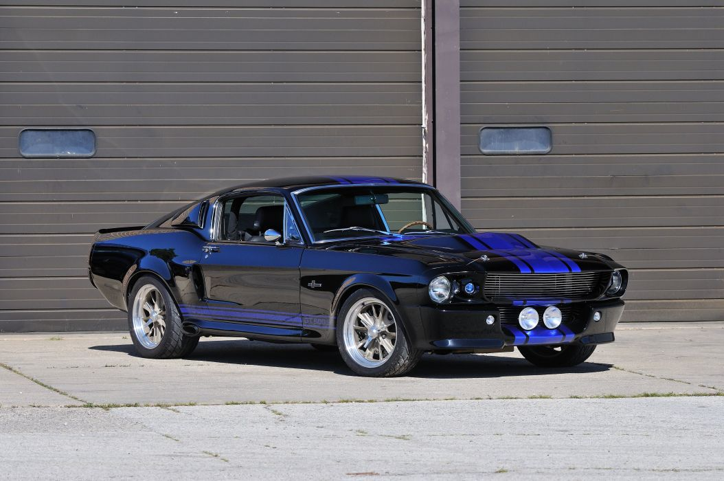 1967 Ford Mustang Shelby GT500SE Fastback Black Muscle Street Rod Machine USA 4288x2848-01 wallpaper