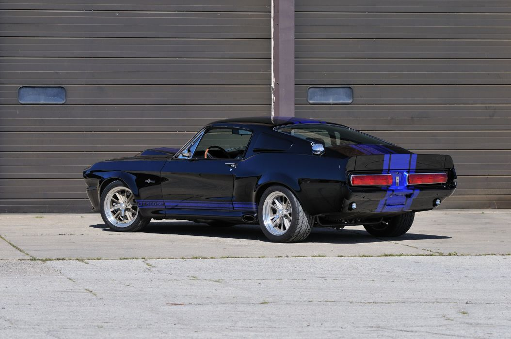 1967 Ford Mustang Shelby GT500SE Fastback Black Muscle Street Rod Machine USA 4288x2848-03 wallpaper