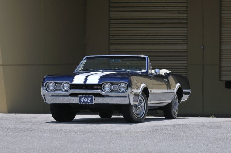 1967 Oldsmobile Olds 442 Convertible Muscle Classic Old USA 4288x2848-02 wallpaper