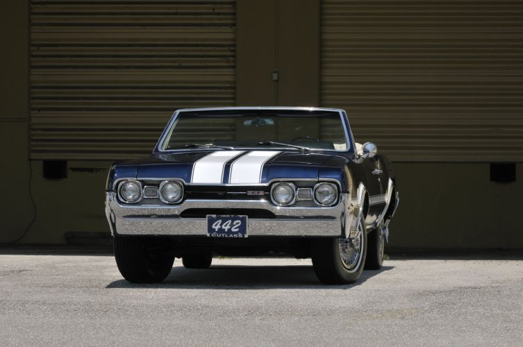 1967 Oldsmobile Olds 442 Convertible Muscle Classic Old USA 4288x2848-04 wallpaper