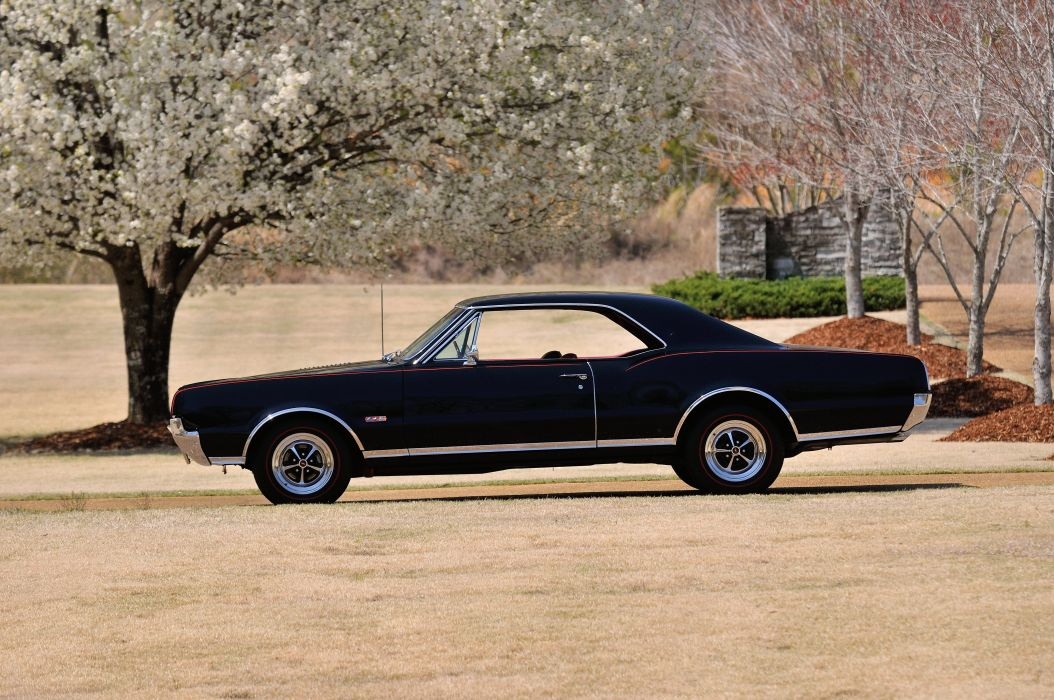 1967 Oldsmobile Olds 442 W30 Black Muscle Classic Old USA 4288x2848-02 wallpaper