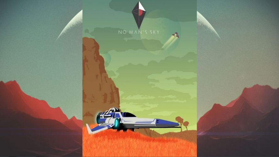 NO MANS SKY sci-fi adventure procedural 1noms exploration survival fpa spaceship wallpaper