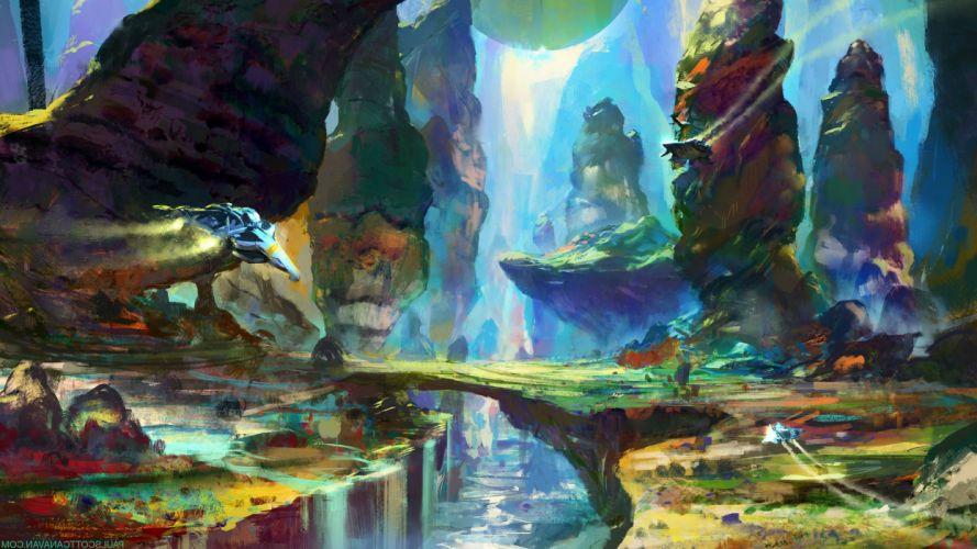 NO MANS SKY sci-fi adventure procedural 1noms exploration survival fpa spaceship artwork wallpaper