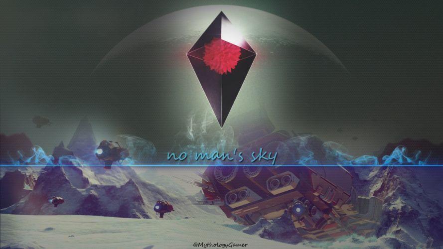 NO MANS SKY sci-fi adventure procedural 1noms exploration survival fpa poster wallpaper