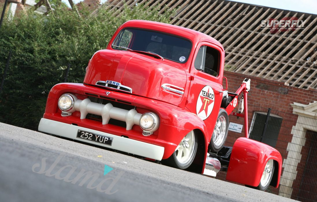 1951 Ford F5 COE Truck Wrecker Low Show USA 2400x1530-02 wallpaper
