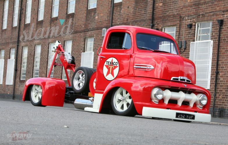1951 Ford F5 Coe Truck Wrecker Low Show Usa 2400x1530 05