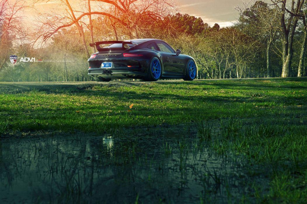 ADV1 WHEELS PORSCHE 991 GT3 coupe cars tuning 2015 wallpaper