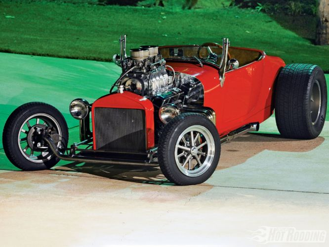 1927 Ford Roadster Hot Rod Hotrod Red USA 1660x1200-01 wallpaper