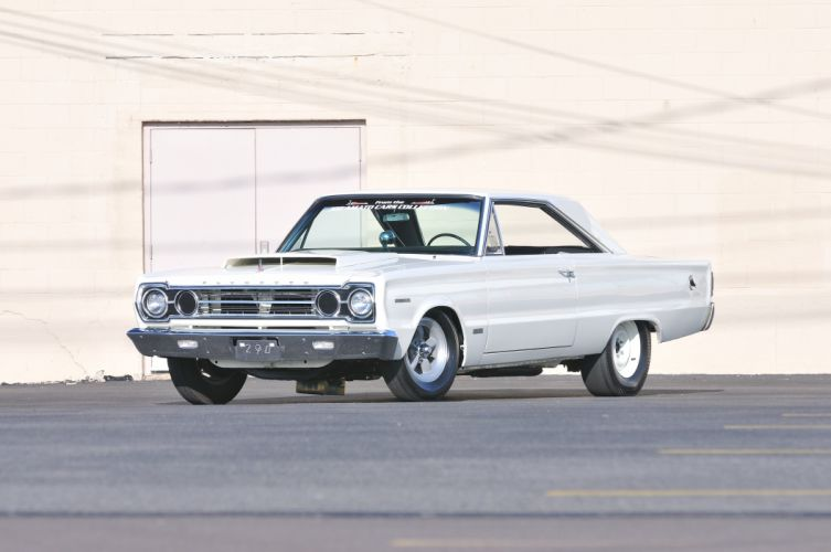 1967 Plymouth RO23 Belvedere Muscle Drag Race White USA 4200x2790-01 wallpaper