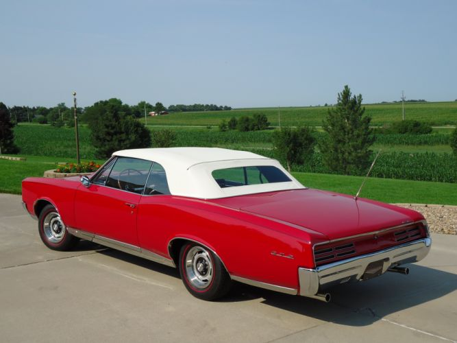 1967 Pontiac GTO Convertible Muscle Classic Old Red USA 4320x3240-06 wallpaper