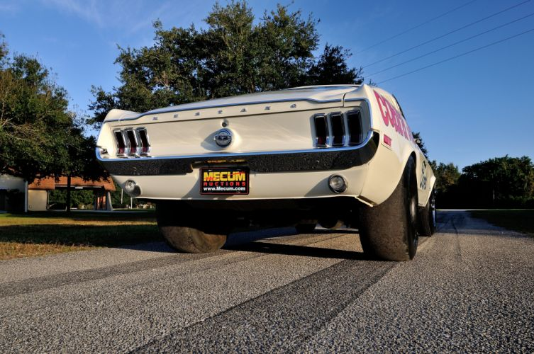 1968 Ford Mustang CJ White Muscle Classic Drag Dragster Race USA 4288x2848-04 wallpaper