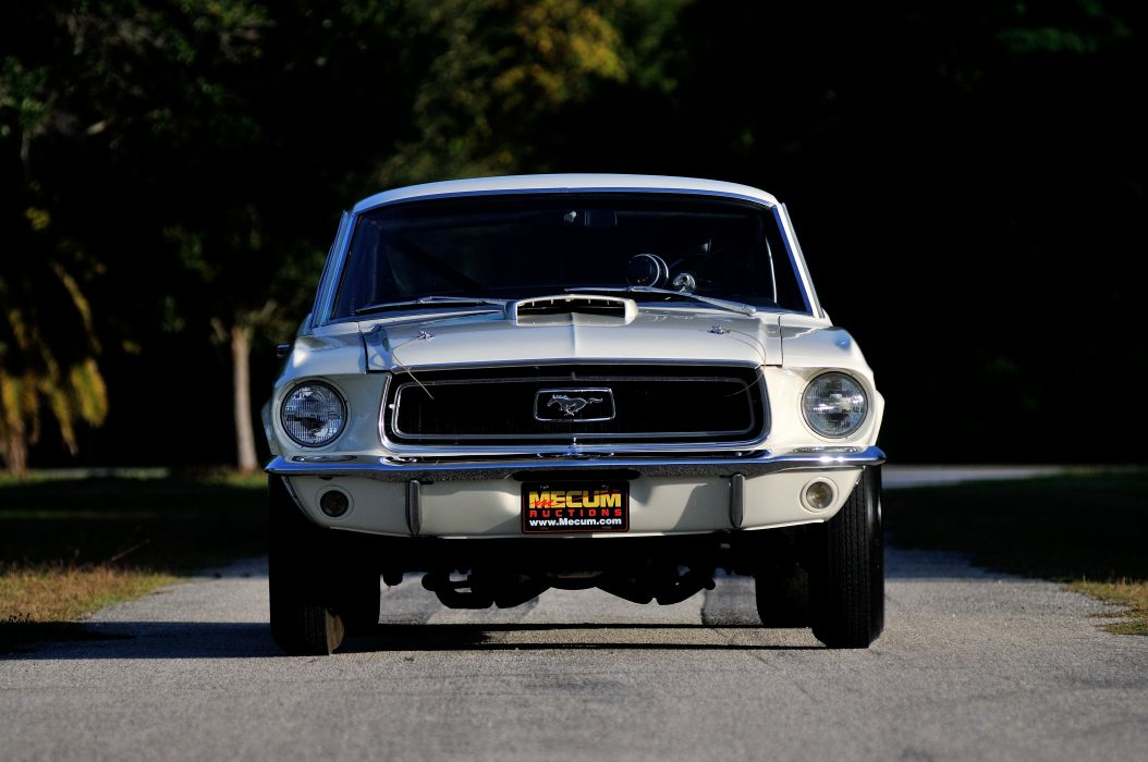 1968 Ford Mustang CJ White Muscle Classic Drag Dragster Race USA 4288x2848-08 wallpaper