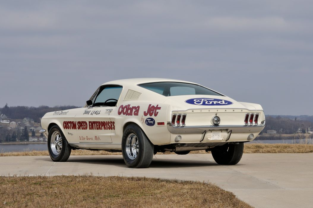 1968 Ford Mustang Lightweight CJ White Drag Dragster Race USA 4288x2848-03 wallpaper