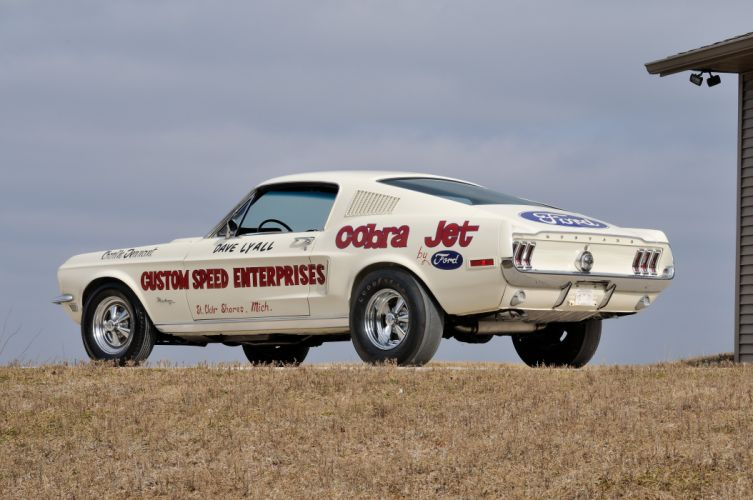 1968 Ford Mustang Lightweight CJ White Drag Dragster Race USA 4288x2848-07 wallpaper