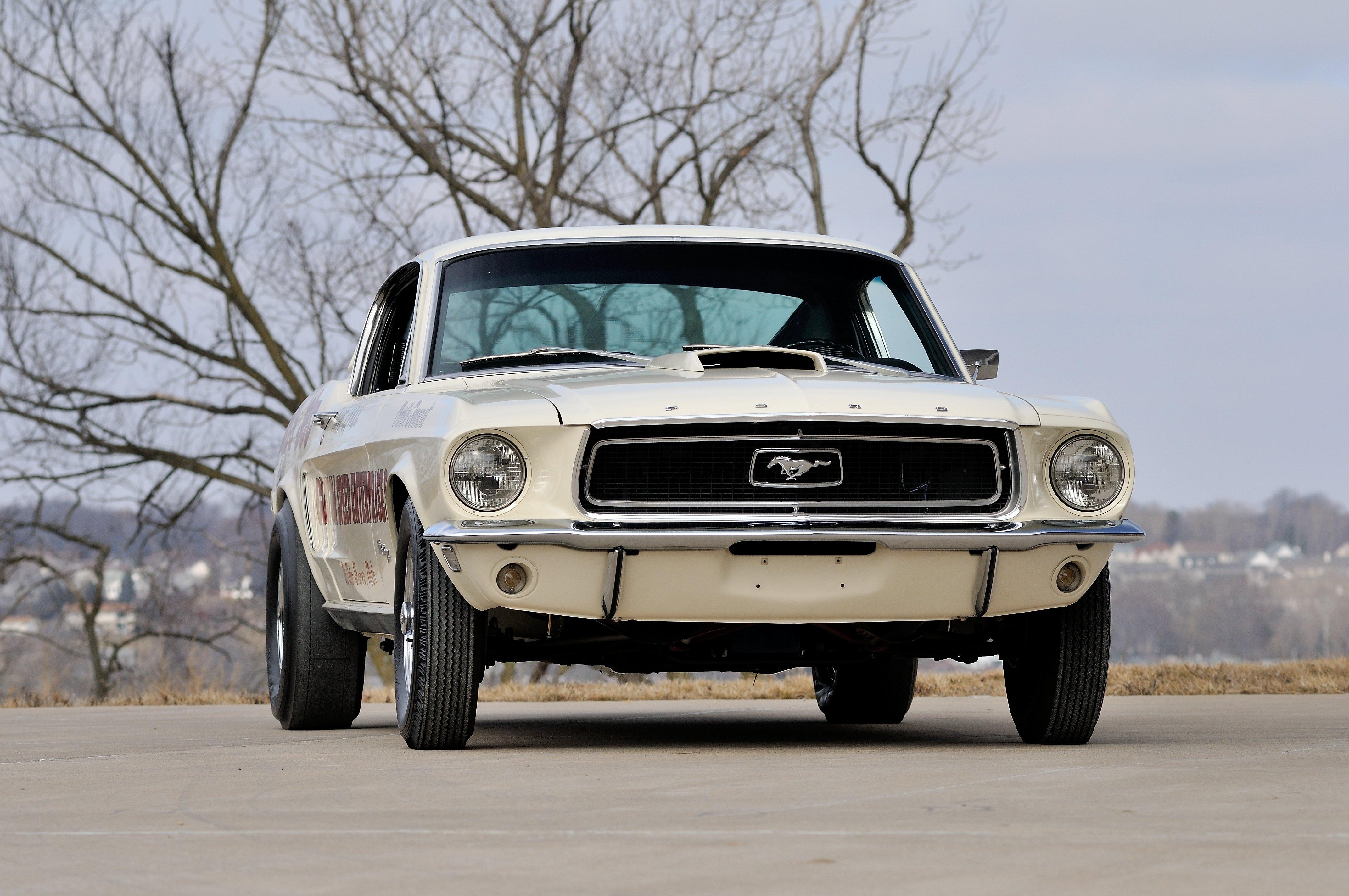 1968 ford mustang lightweight cj white drag dragster race usa 4288x2848 09 wallpaper 4288x2848 653805 wallpaperup