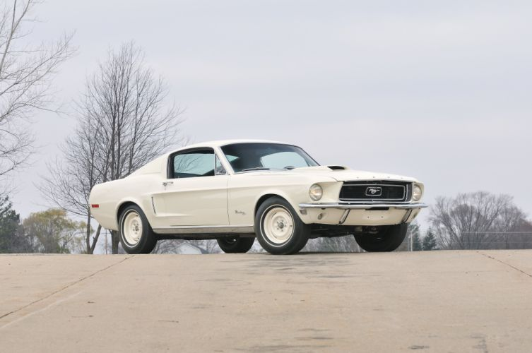 1968 Ford Mustang Lightweight White Muscle Classic Old USA 4288x2848-01 wallpaper