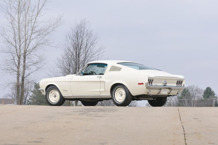 1968 Ford Mustang Lightweight White Muscle Classic Old USA 4288x2848-02 wallpaper