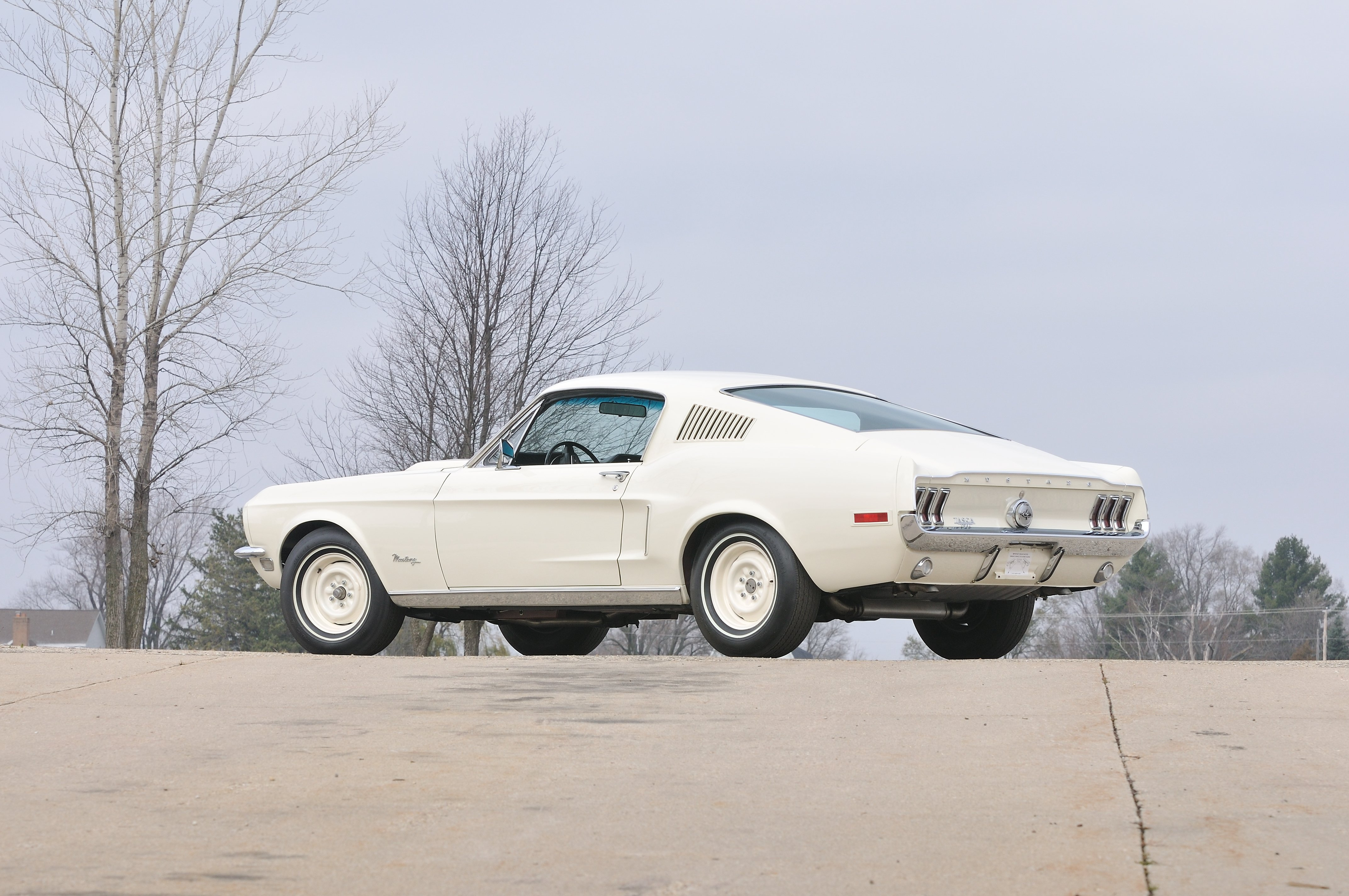 1968 ford mustang lightweight white muscle classic old usa 4288x2848 02 wallpaper 4288x2848 653807 wallpaperup
