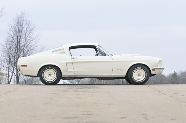 1968 Ford Mustang Lightweight White Muscle Classic Old USA 4288x2848-03 wallpaper