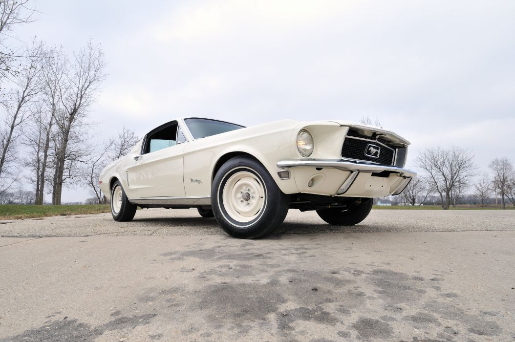 1968 Ford Mustang Lightweight White Muscle Classic Old USA 4288x2848-05 wallpaper