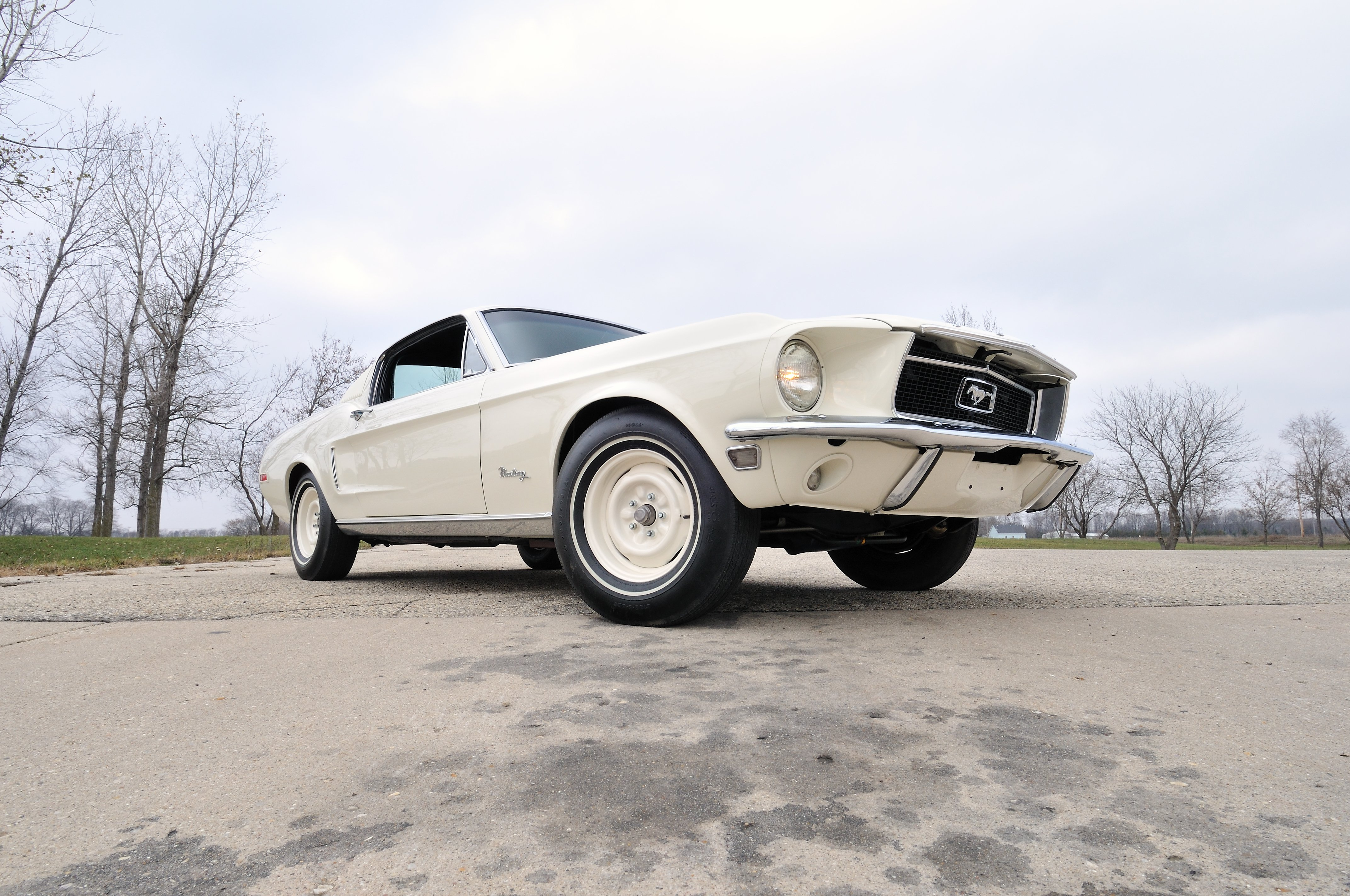 1968 ford mustang lightweight white muscle classic old usa 4288x2848 05 wallpaper 4288x2848 653811 wallpaperup