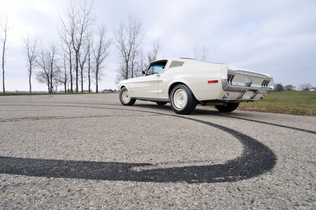 1968 Ford Mustang Lightweight White Muscle Classic Old USA 4288x2848-06 wallpaper