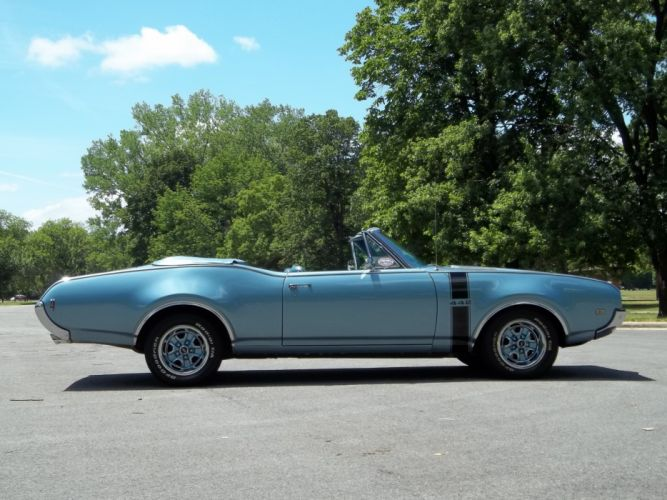 1968 Oldsmobile 442 Convertible Muscle Classic Old Blue USA 4200x3150-01 wallpaper