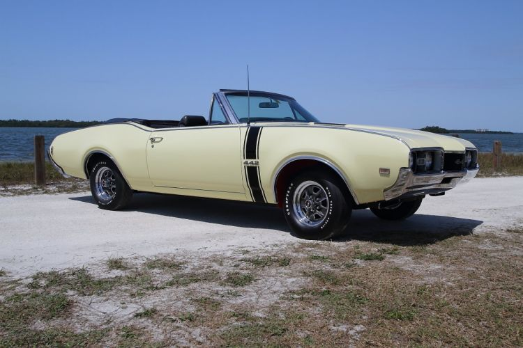 1968 Oldsmobile 442 Convertible Muscle Classic Old USA 2048x1365-02 wallpaper