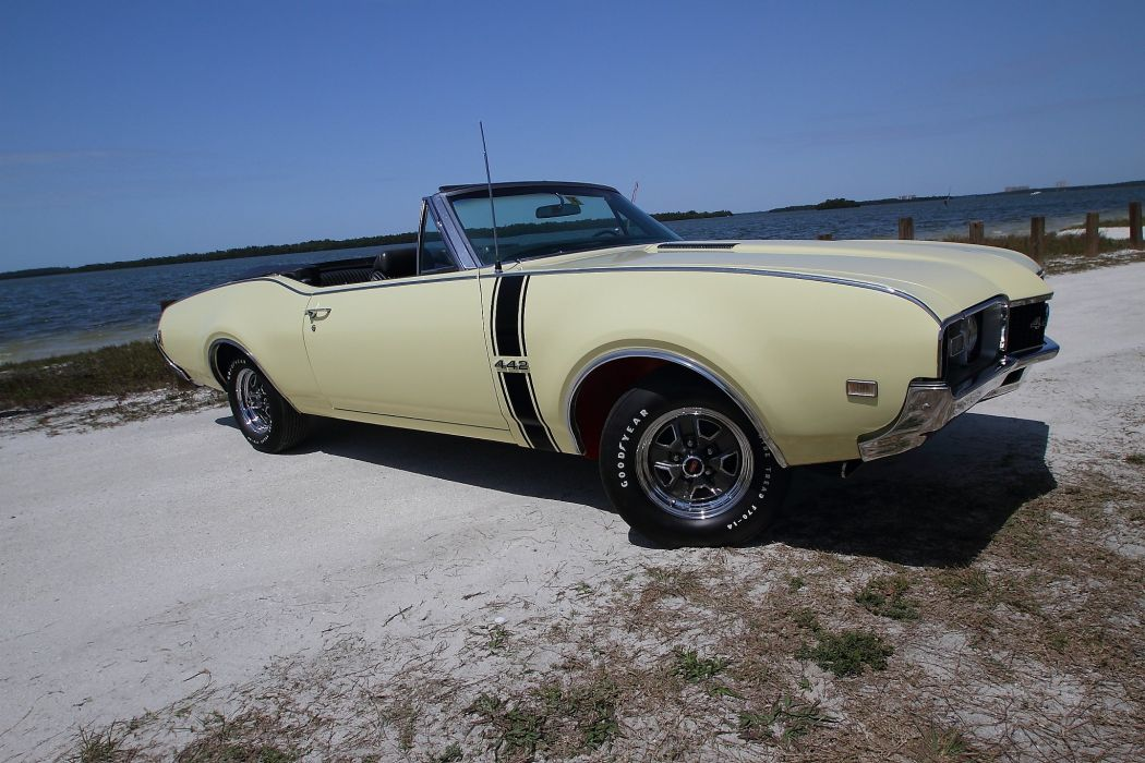 1968 Oldsmobile 442 Convertible Muscle Classic Old USA 2048x1365-04 wallpaper
