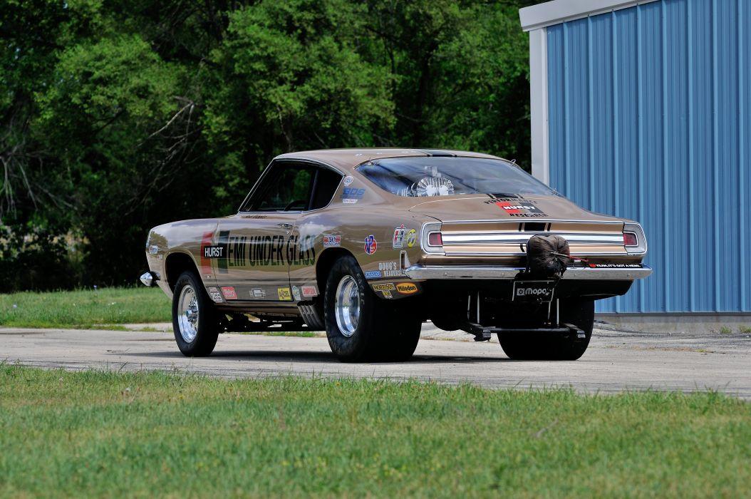 1968 Plymouth Barracuda Hurst Hemi Under Glass Drag Dragster Race Show USA 4288x2848-04 wallpaper
