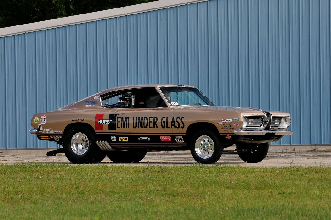 1968 Plymouth Barracuda Hurst Hemi Under Glass Drag Dragster Race Show USA 4288x2848-05 wallpaper